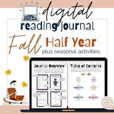 Reading Journal- Digital- Half Year- Fall Activities- Dist