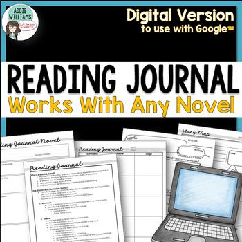Reading Journal / Reading Logs - Digital / Google Version