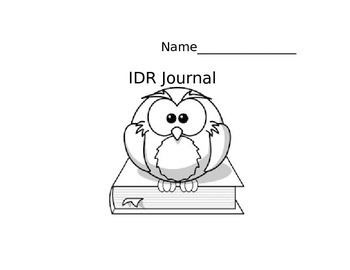 Reading Journal (IDR Journal)
