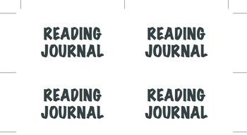 Reading Journal Labels K-6