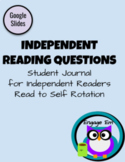 Reading Log Response Journal Quick Questions Read to Self Rotation Google Slides