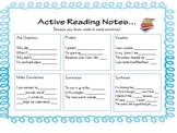 Reading Journal Prompts... Active Thinking Stems