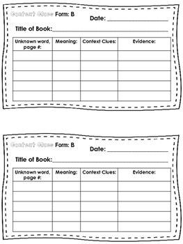 Reading Journal Prompts for 2nd grade