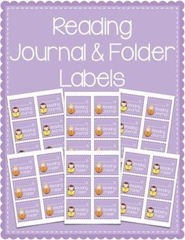 Reading Journal & Reading Folder Labels