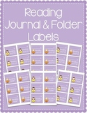 Reading Journal & Reading Folder Labels