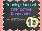Readers Response- Reading Journal Interactive Notebook Activities