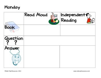 Reading Journal for Primary - A Simple Way to Teach Reading Strategies