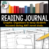 Reading Journal for Novel Study, Silent Reading or Lit Circles