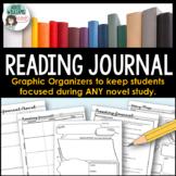 Reading Journal for Novel Study, Silent Reading or Lit Circles