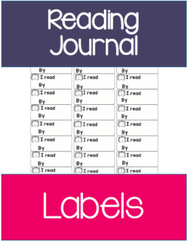 Reading Journal | Reading Log Labels