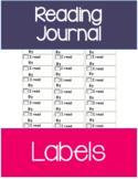 Reading Journal | Reading Log Labels