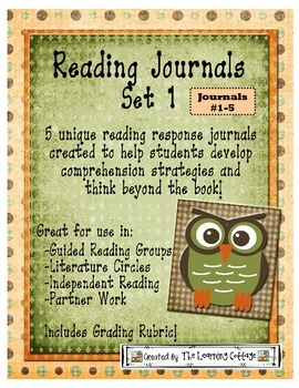 HOTS Reading Response Journals Set 1