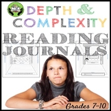 Reading Journals Using Depth and Complexity- Grades 7-10