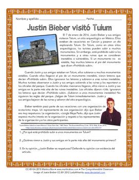 Reading: Justin Bieber visitó Tulum