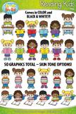 Reading Kid Characters Clipart {Zip-A-Dee-Doo-Dah Designs}