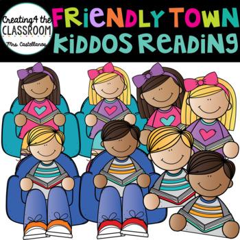 Reading Kiddos Clip Art {Reading Clip Art}