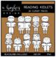 Reading Kidlets Clipart {A Hughes Design}
