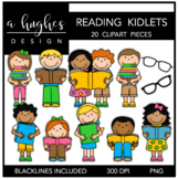 Reading Kidlets Clipart {A Hughes Design}