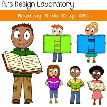 Reading Kids Clip Art