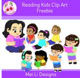 Reading Kids Clip Art Freebie!