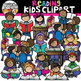Reading Kids Clipart {School Clipart}