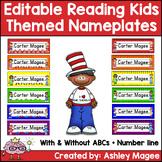 Reading Kids Themed Editable Name plates / Desk Plates / N
