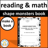 Monster Reading Shapes and Colors Book To Make