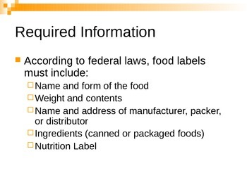 Reading Labels Power Point