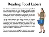 Reading Labels PowerPoint
