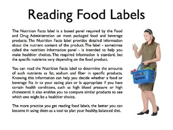 Reading Food Labels PowerPoint