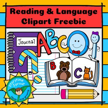 Back-to-School Reading & Language Arts Clipart Freebie (10 pc.)
