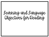 Reading Language and Learning Objectives Module 1 (Spanish)