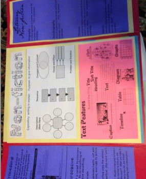 Reading Lapbook Folder Literary Element  Genres STAAR Back to School BTS SALE!