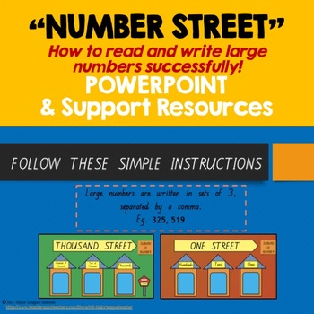 """""""Number Street""""-  POWERPOINT & Support Resources"""