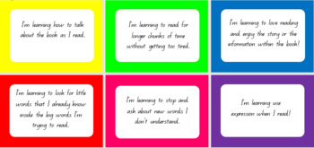 Reading Learning Goals Display