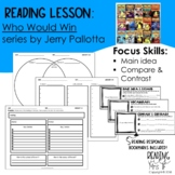 Reading Lesson: Who Would Win books by Jerry Pallotta