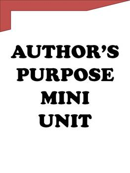 Reading Lessons That Work - Author's Purpose Mini Unit