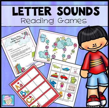Rain Activities | Reading Centers Letter Sound Games