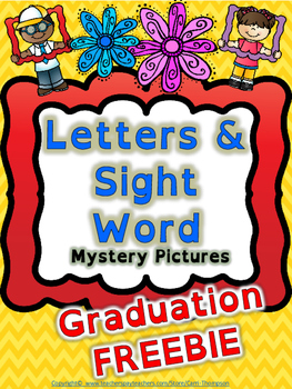 Reading: Letters and Sight Word Graduation Mystery Picture FREE *End of Year*