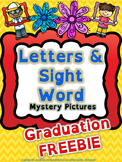 Reading: Letters and Sight Word Graduation Mystery Picture