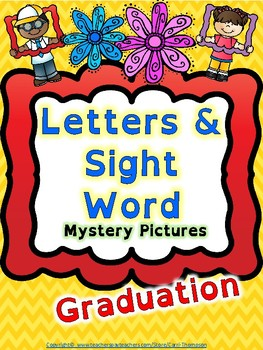Reading: Letters and Sight Words Graduation Mystery Pictures *End of Year*