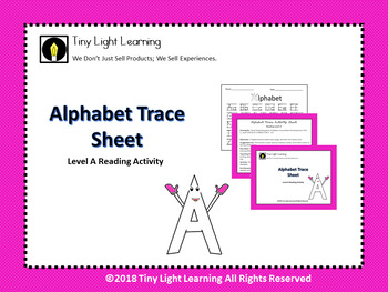 Reading Level A Alphabet Tracer in English with Mini Lesson Card