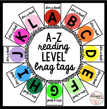 A-Z Reading Level Brag Tags