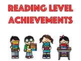 Reading Level Achievement Awards