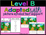 Reading Level B Modified Text & Comprehension (Where Am I?)
