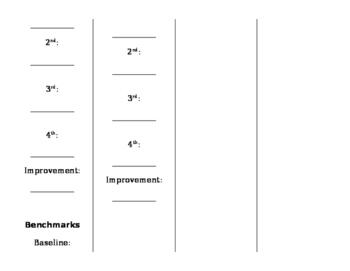 Reading Level & Benchmark Goal Bookmarks