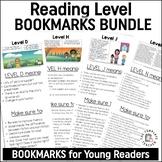 Reading Level Bookmark Guide for Leveled Books English & Spanish BUNDLE