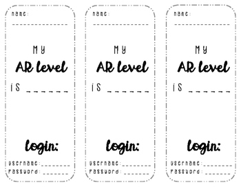 Reading Level Bookmarks