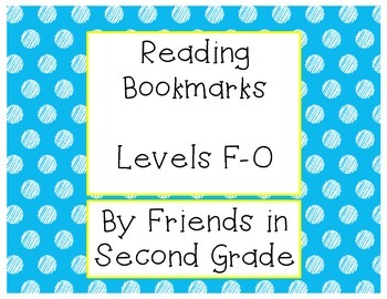 Reading Level Bookmarks F-O