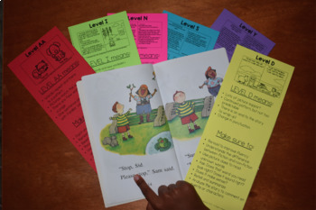 Reading Level Bookmarks - Guide for Leveled Books Spanish ONLY Version